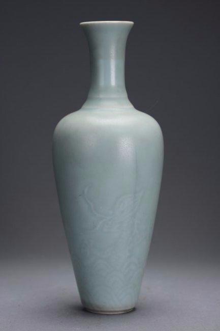 "KANGXI Mark, A Finely Engraved ""Dragon"" Vase"