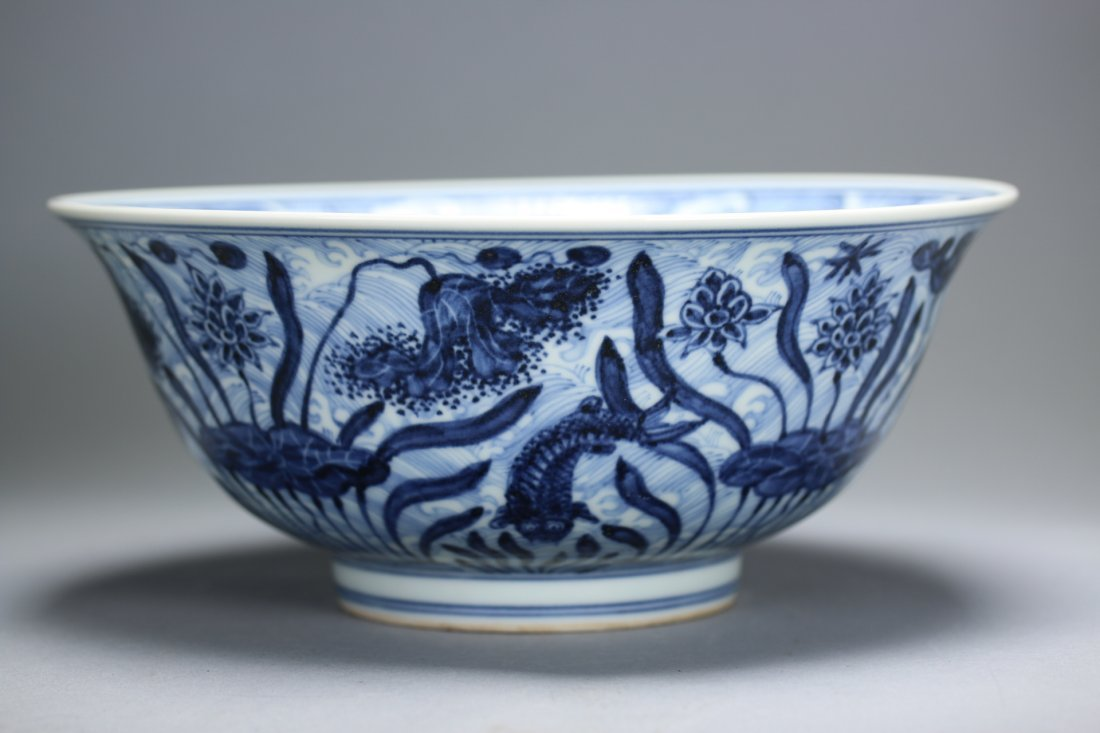 Ming Dy WanLi Mark, A Large Blue and White Bowl. - 3