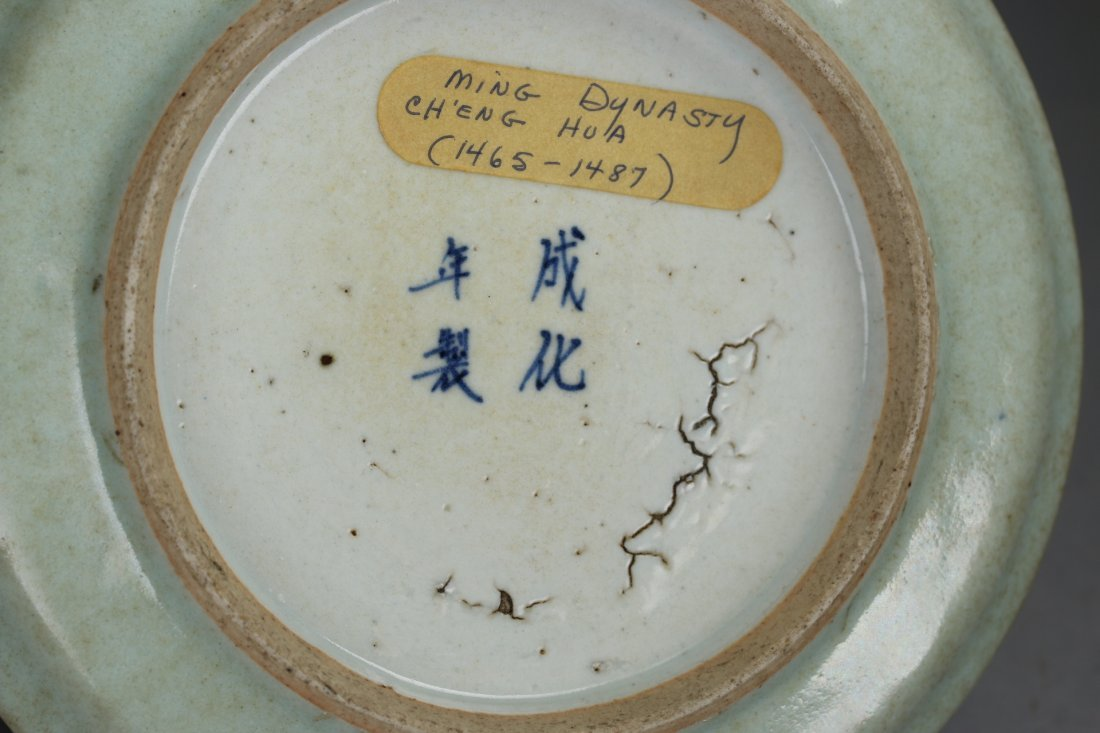 Ming Dynasty Cheng-Hua Blue and White Plate - 7