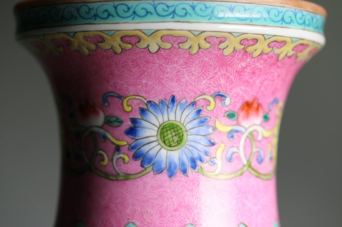 QianLong Mark, A Chinese Famille Rose Vase Bottle - 4