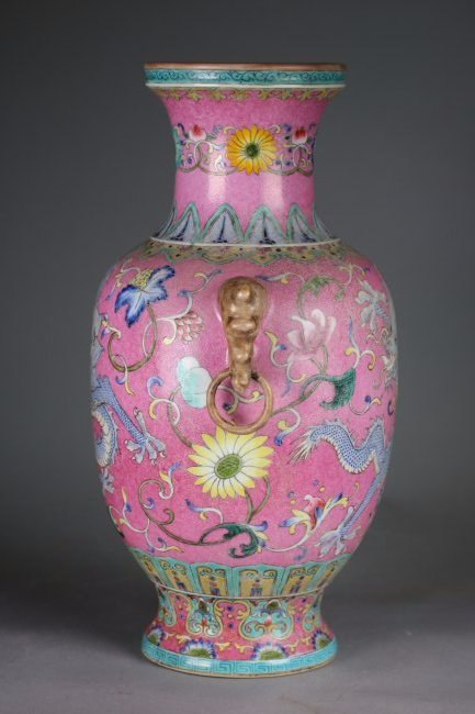 QianLong Mark, A Chinese Famille Rose Vase Bottle - 7
