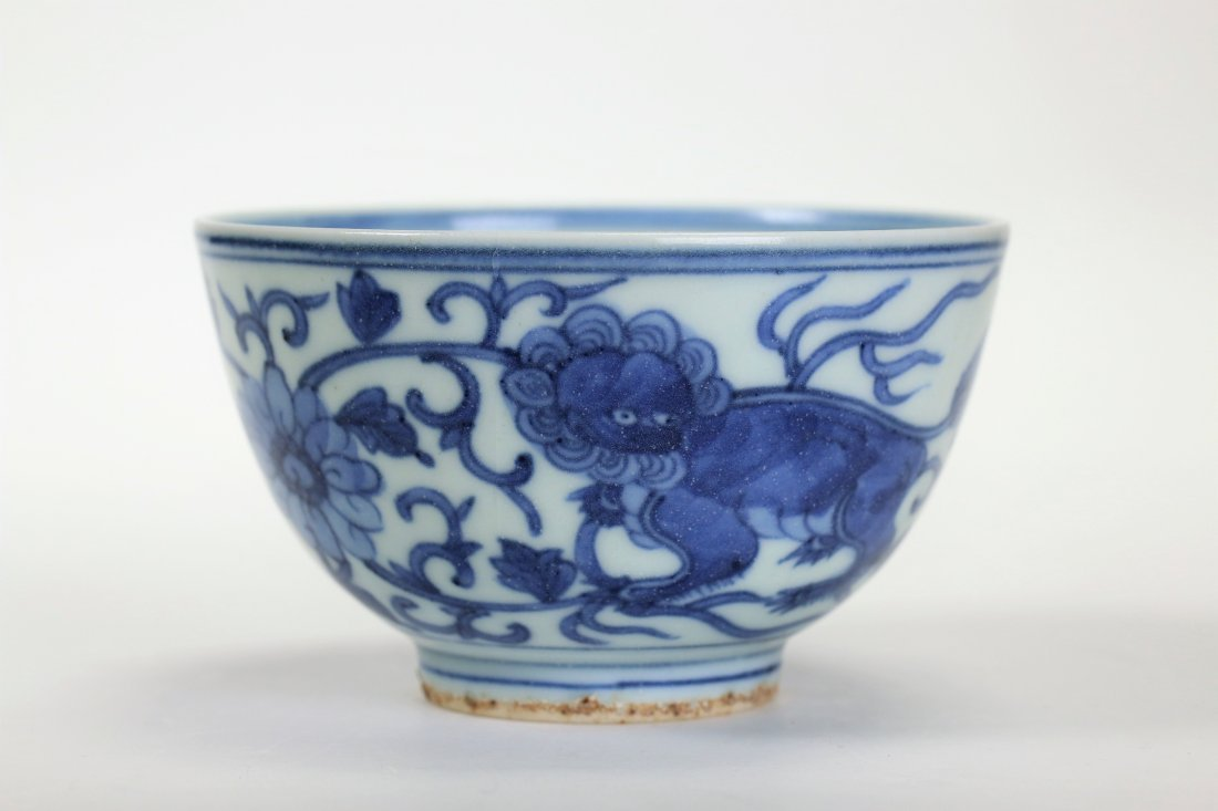 A Chines Ming Element Blue and White Bowl