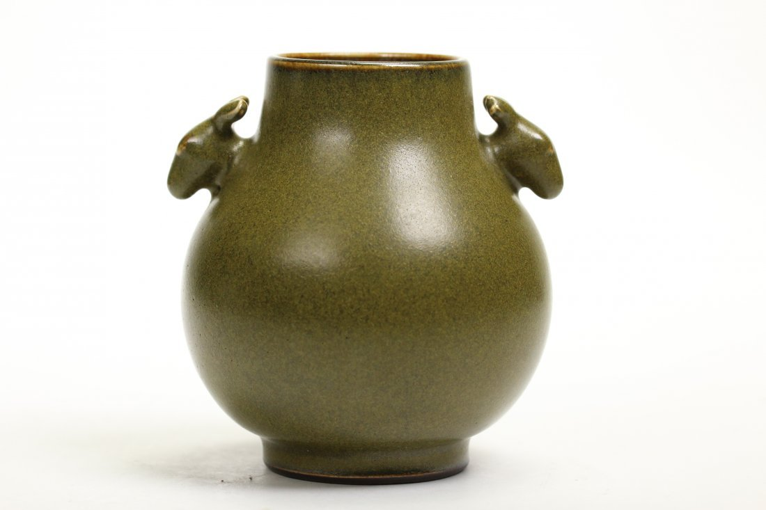 A Chinese Teadust Glazed Porcelain vase,Daoquang marks