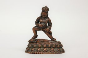 A Bronze Buddha Statue,18th century