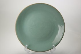 A Chinese Celadon Glazed Plate,Qing dynasty