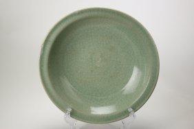 A Celadon Glazed Plate,Late Qing dynasty
