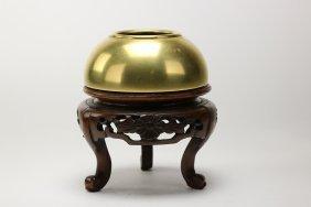 A Gilt-Bronze Censer