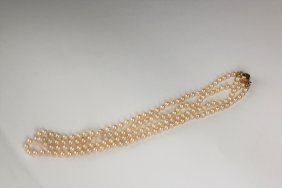 Ladies Double Strand Pearl Necklace