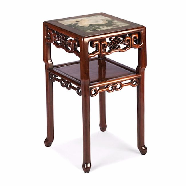 A huanghuali tea table with dream stone panel, Qin Dyna