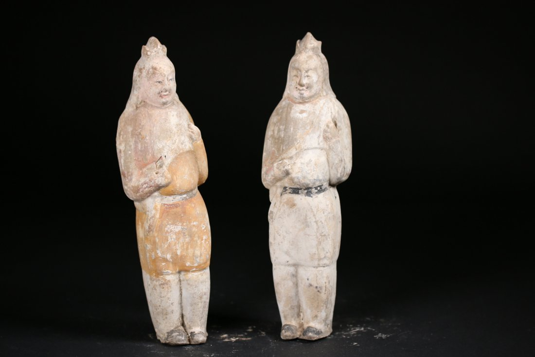 Two Chinese Pottery Figures,Sui danysty(589-218)