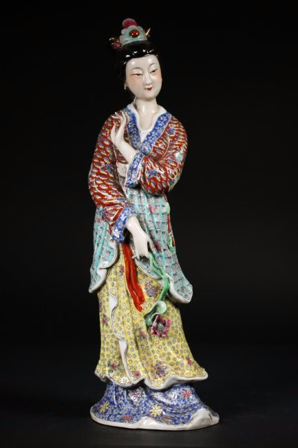 A Chinese Porcelain Lady Figure,Republic