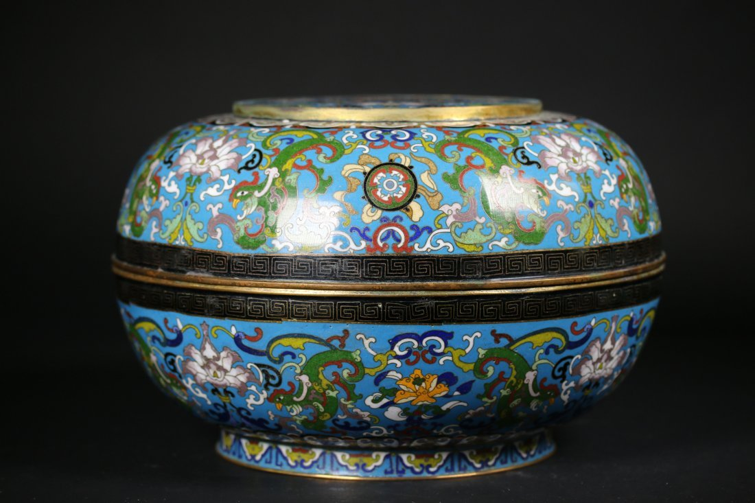 A Chinese Cloisonne Box,Qianlong marks
