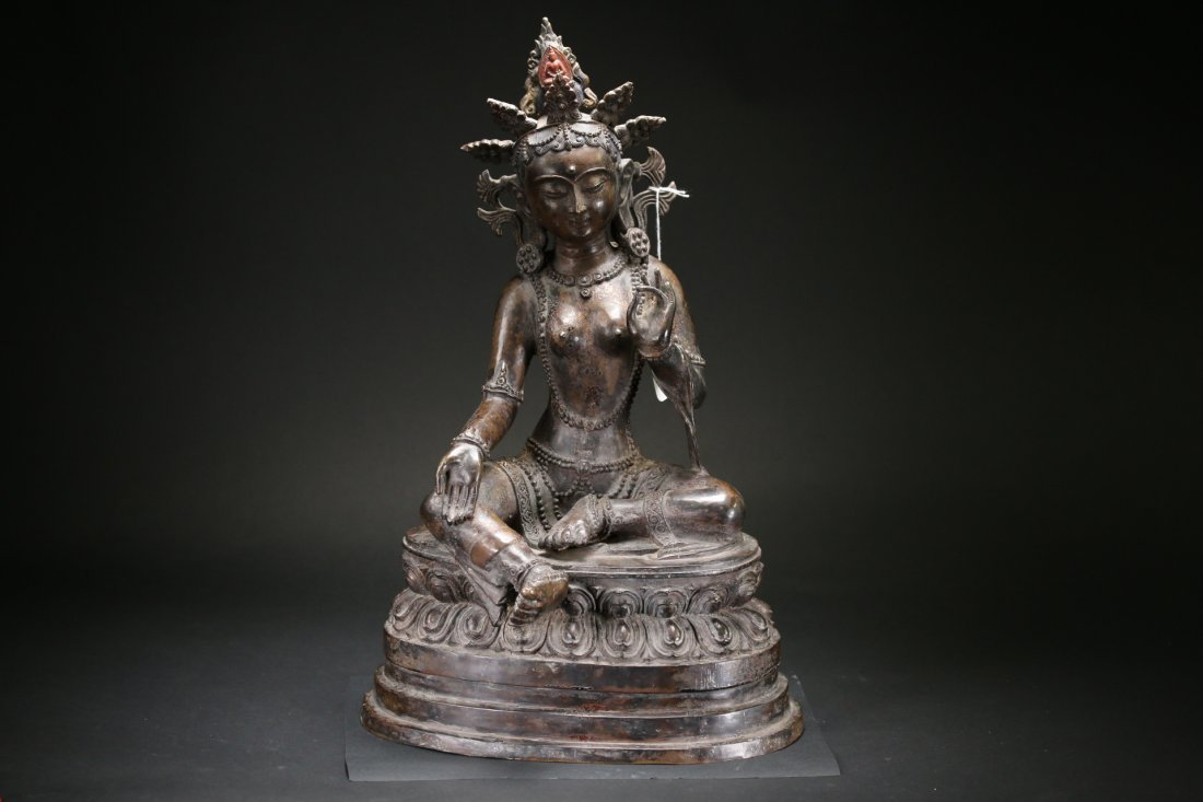 A Large Bronze Buddha Statue,Qing dynasty