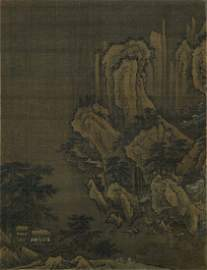 CHINESE SILK PAINTING by Yan Wengui 燕文