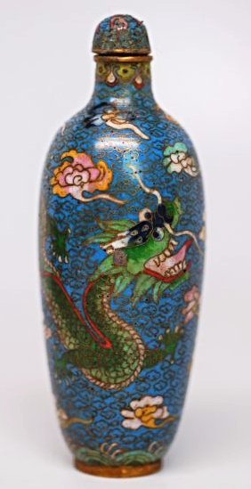 Chinese Cloisonne Snuff Bottle, 19th century