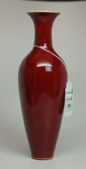 A Chinese Oxblood Glazed Amphora Form Vase