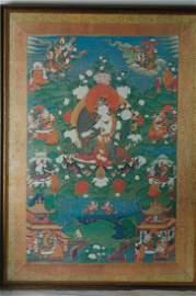 A Chinese  Tibetan Thangka, Print
