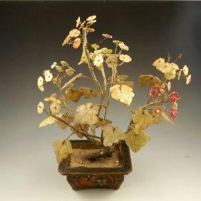 Vintage Chinese Jade Tree