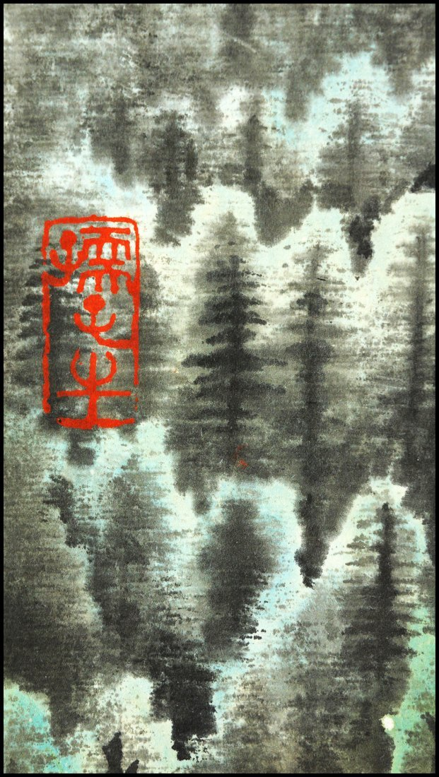 A CHINESE SCROLL PAINTING By Li Keran - 4