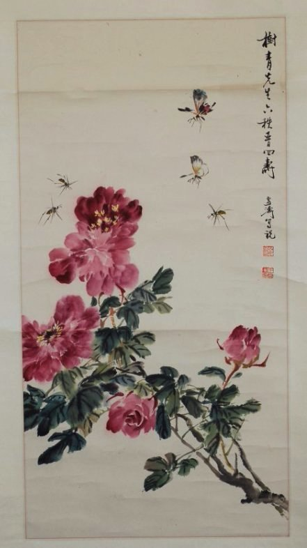 A Chinese water color Scroll Painting