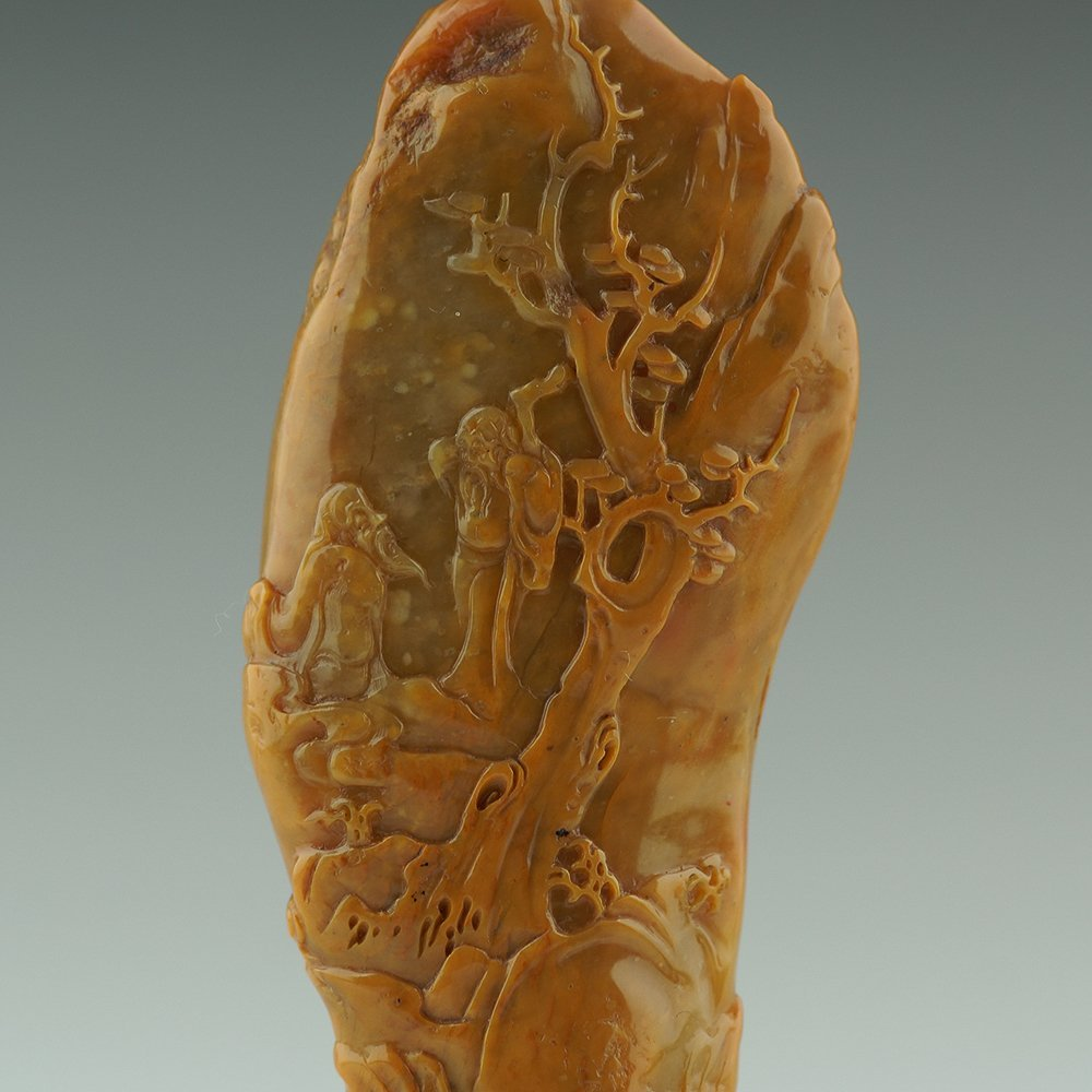 A Chinese Shoushan stone seal stamp - 3