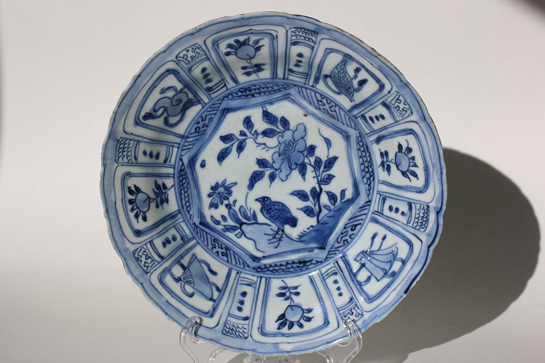 China Blue and white  Porcelain Plate,Wanli Period
