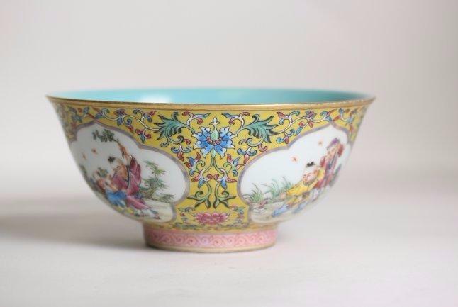 A Beautiful Chinese Famille Rose Bowl,Qianlong marks