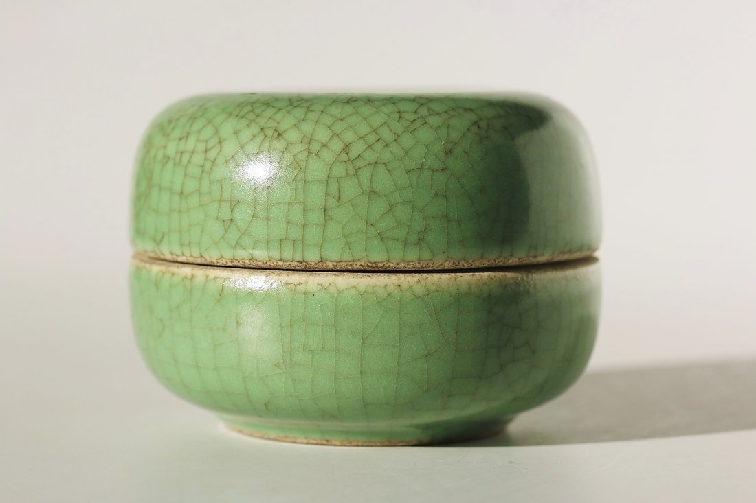 Chinese celadon Crackle Ware Decor box