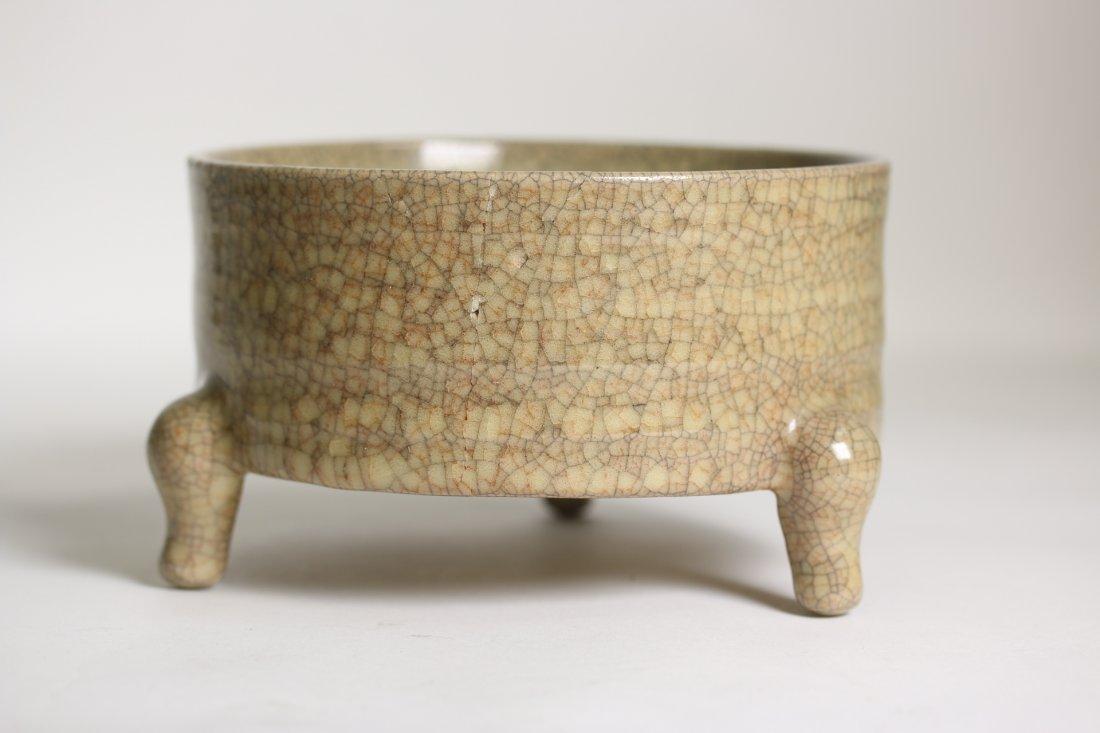 Chinese Porcelain Crackle Ware Decor Censer