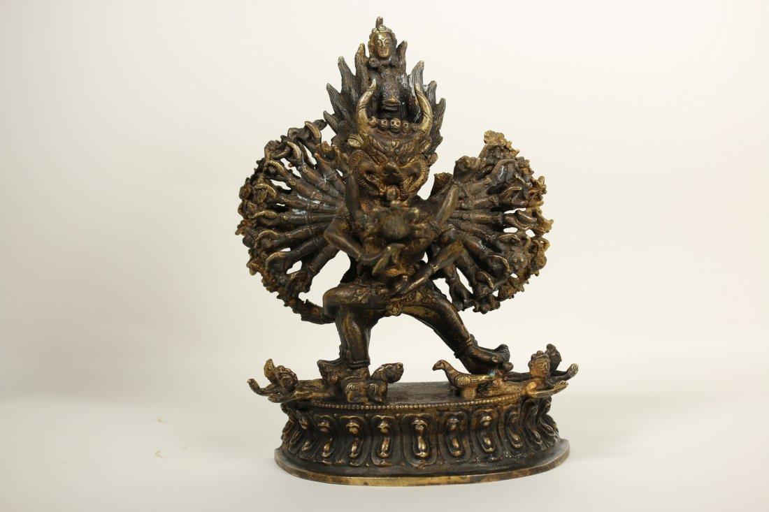 A Tibet gilt-bronze figure,19th century