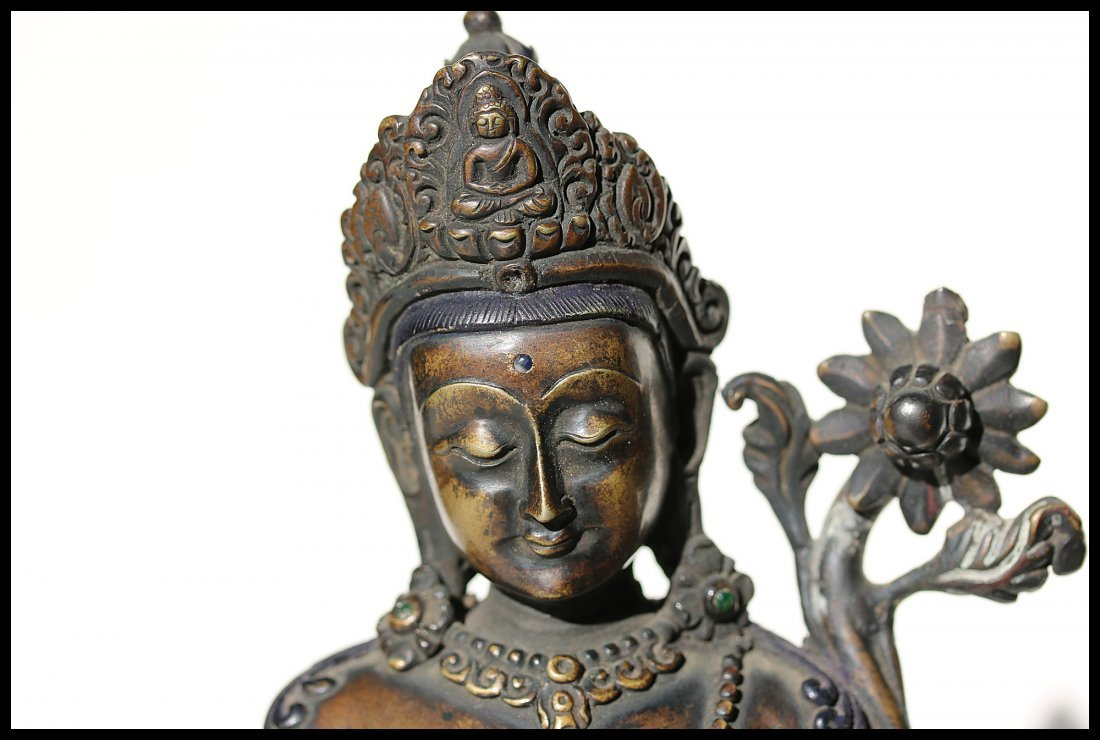 A Tibetan  cast bronze figure of Padmapani,19th century - 2