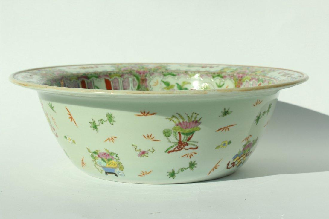 A  famille rose enameled porcelains,late Qing dynasty