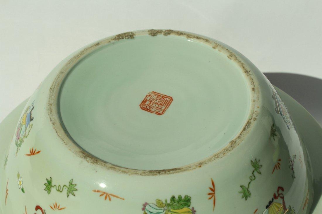 A  famille rose enameled porcelains,late Qing dynasty - 9