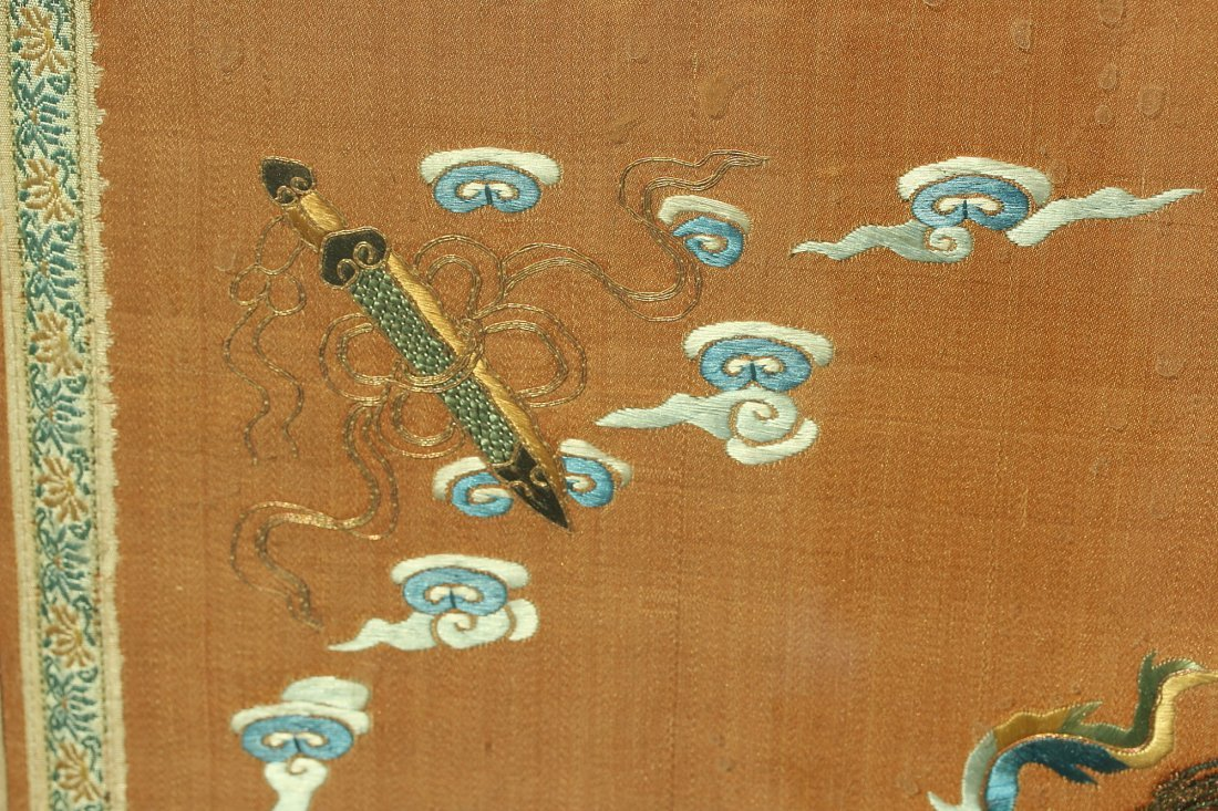 An silk embroidered panel,Late Qing dynasty - 4