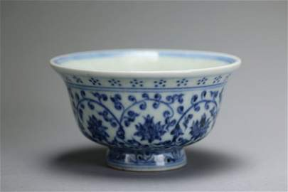 Yong Le Blue and White Pressure Hand Cup
