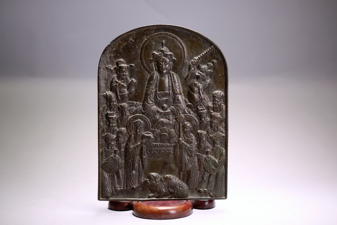 Chinese Religious Bronze Tablet