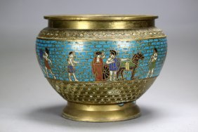 A  Cloisonne Bronze Vases