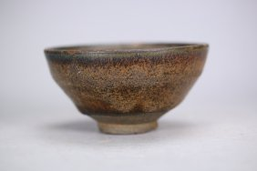 A Chinese Jian 'hare's fur' tea bowl, Song dynasty