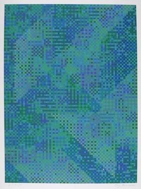 Tony Bechara, Blue City, Serigraph