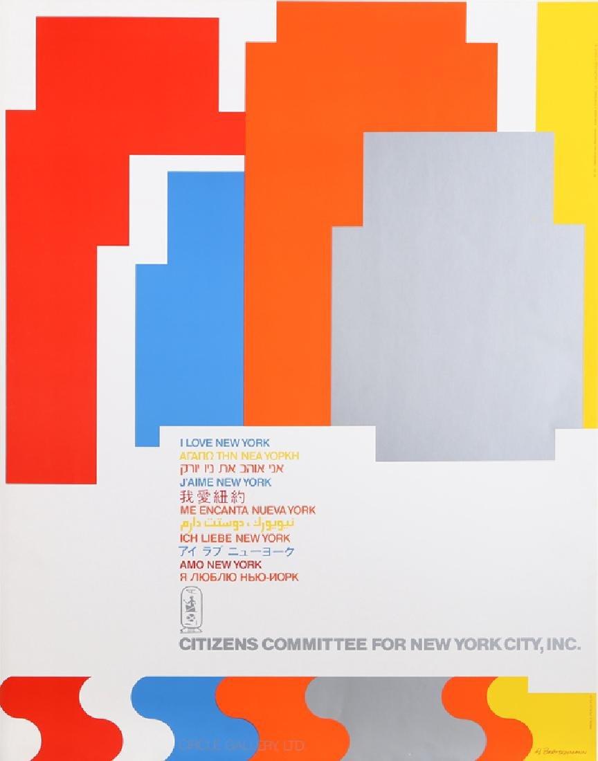 H. Bertschmann, I Love New York, Poster