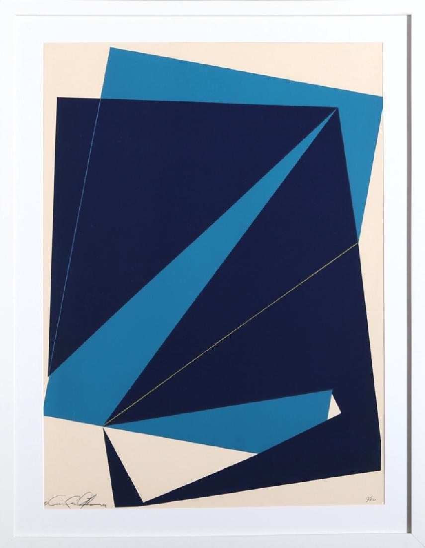 Cris Cristofaro, Navy and Blue Rectangles, Silkscreen
