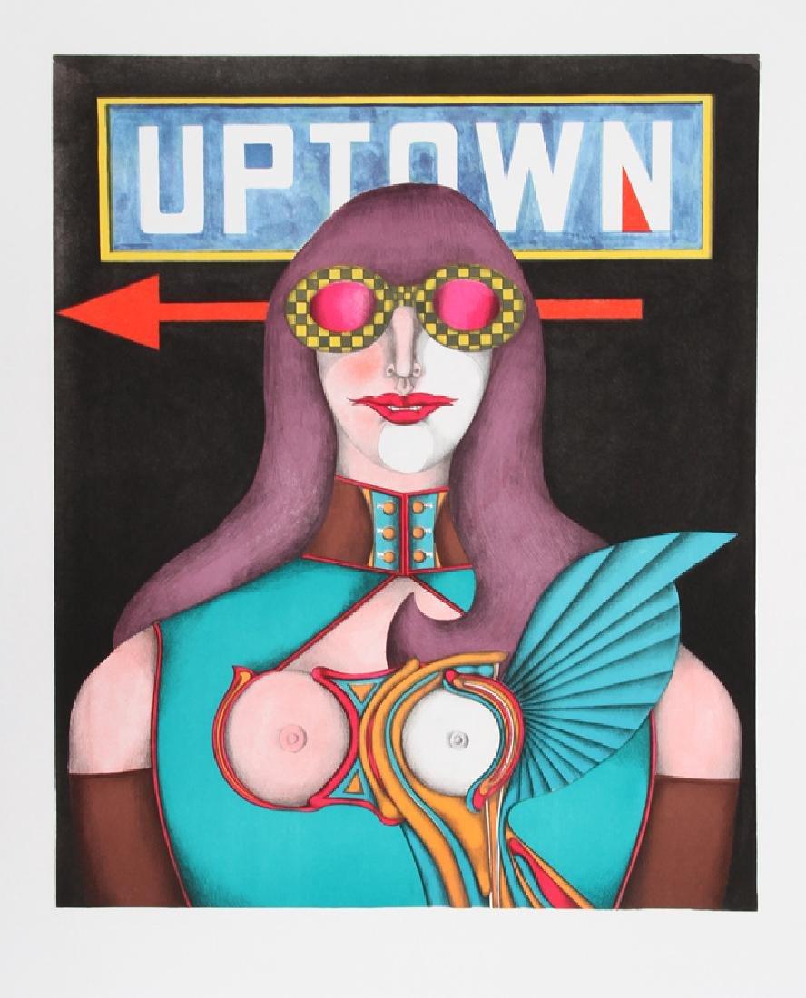 Richard Lindner, Uptown, Lithograph Poster
