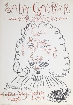 Pablo Picasso, Exhibition Sala Gaspar, Poster 1968