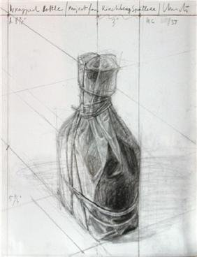 Christo, Wrapped Bottle (Project for Kirchberg