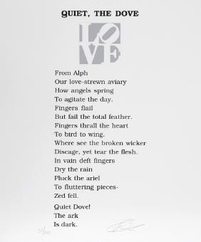 Robert Indiana, The Book of Love Poem - Quiet, The