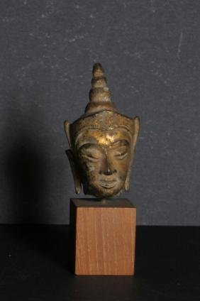 Artifact, Thai Goddess Head, Carved Stone Object