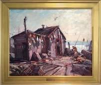 Emile Albert Gruppe, Gloucester Morning, Oil Painting