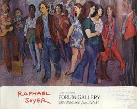 Raphael Soyer, Forum Gallery 1972, Signed Poster