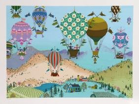 Jack Hofflander, Spring Balloons, Serigraph