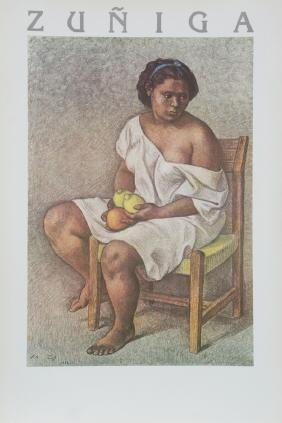 Francisco Zuniga, Woman with Lemons, Poster